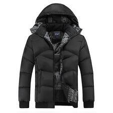 Men's Winter Warm Hooded Parka Winter Thick Duck Down Coat Outwear Down Jacket