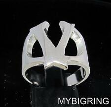STERLING SILVER MEN'S INITIAL RING ONE 1 BOLD CAPITAL BLOCK LETTER V ANY SIZE