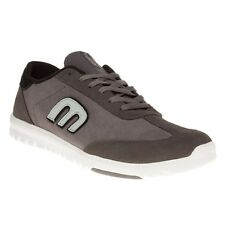 New Mens Etnies Grey Lo-Cut Sc Suede Trainers Skate Lace Up