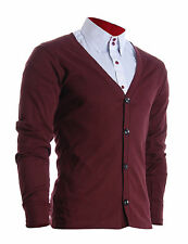 FLATSEVEN MENS SLIM FIT STYLISH BUTTON UP CARDIGAN / FC100WN