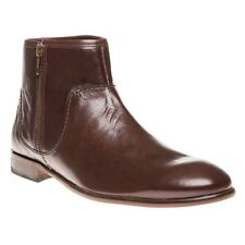 New Mens H by Hudson Brown Songsmith Zip Leather Boots