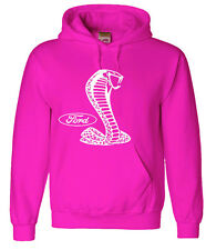 Pink hoodie sweatshirt Ford Cobra men's size sweat-shirt ford hoodie