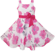 Flower Girl Dress Pink Floral Party Wedding Boutique Kids Clothing Size 4-12