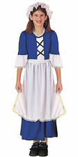 Little Colonial Miss Child Girls Pioneer Historical Costume Fancy Dress