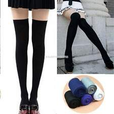 Women Long Socks Thigh High Cotton Stockings Over Knee Hosiery Pantyhose  Sexy