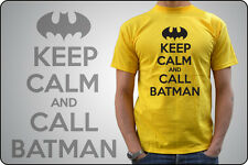 t-shirt KEEP CALM AND CARRY ON - Keep CALM and CALL BATMAN - MAN WOMAN BABY
