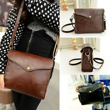 Korean Girls Messenger Shoulder Bag Leather Satchel Crossbody Bags Tote Handbags