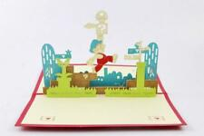 Funny Handmade 3D Super Mario Game Holiday Birthday Greeting Card Postcard NC24