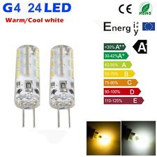 Warm/Cool White 2W G4 LED Light SMD Cabinet Camper Bulb Globe Boat  12V