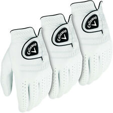 Callaway Golf 2016 Mens Tour Authentic Leather Glove - LH (3 Pack) - White