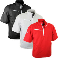 Callaway Golf 2015 Mens 1/4 Zip Gust 2.0 Short Sleeve Windshirt SS Wind Pullover