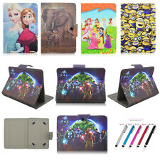 Cartoon Fold Flip Stand Cover PU Leather Case For Universal 7~8'' Tablet PC MID