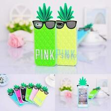 Cute 3D Cartoon Colorful Pineapple Soft Silicone Cover for Apple iPhone 6 4.7
