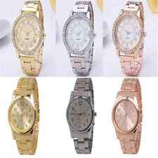 Fashion Women Men Crystal Stainless Steel Watches Quartz Analog Wrist Watch Gift