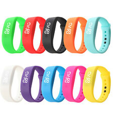 Fashion Womens Bracelet Watch Rubber Sports Watch Date Digital LED Wrist Watch