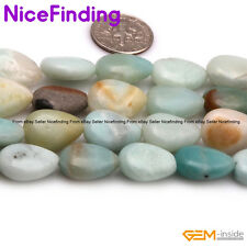 Natural Drop Mixed-Color Amazonite Gemstone Beads For Jewelry Making Beads Lot
