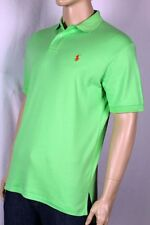 Ralph Lauren Green Interlock Polo Shirt Orange Pony NWT