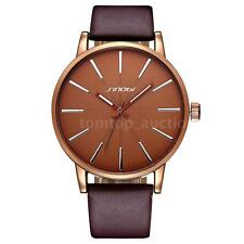 Fashion New Mens Women Casual PU Leather Watch Waterproof Quartz Wristwatch V2LJ