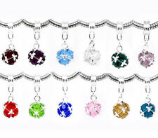 Birthstone Crystal Dangle Charms Fit Charm Bracelets CLIP ON also Available UK