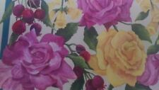 HAND PAINTED WOOD TRAY WITH ROSES & FOXGLOVE-GORGEOUS!