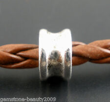 Wholesale HX Silver Tone Spacers Beads 6x4mm
