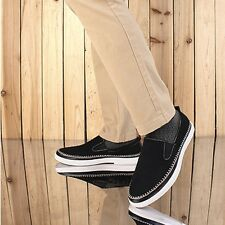 Slip On Casual Loafers For Men Winter Suede Leather Leisure Shoes