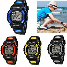 Kids Child Boy girl Watch Waterproof Band Led Digital Sport Quartz Wrist Watch