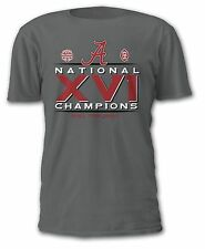 Alabama Crimson Tide 2015 College Football National Champions T-Shirt - XVI 16