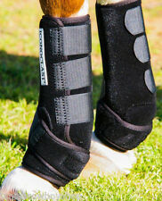 ICONOCLAST SPORTS EQUINE BOOTS  BACK  BLACK XL SUPPORT SPLINT BOOTS CUTTING ,ETC