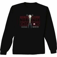 Alabama Crimson Tide 2015 Playoff National Champions Long Sleeve T-Shirt Trophy