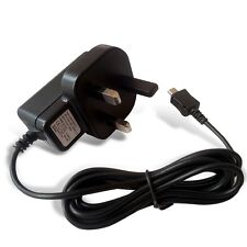BLACK WALL PLUG MAINS CHARGER CE APPROVED MICRO USB FOR VARIOUS MOBILE PHONES
