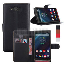 PU Flip Leather Wallet Case Stand Cover For Verizon Motorola Droid Turbo XT1254