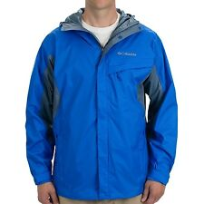 New Columbia mens waterproof Omni Tech hooded rain jacket Big & Tall Blue