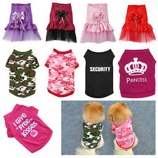 Pet Dog Clothes Puppy Various Summer Vest T Shirt Dress Coat Apparel Costume BKB