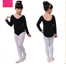 Baby Girls Kid Ballet Tutu Dress Leotards Dance Costume Dancewear Longsleeve NWT