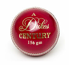 DUKES CENTURY PRACTICE 2 PIECE LEATHER CRICKET BALL - RED - 142GM OR 156GM