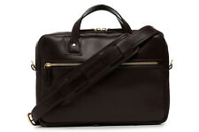 New Z1238 KORCHMAR Wesley Leather Slim Brief LUX Briefcase $395 USA