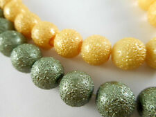 2 Strands Glass 12mm Sugared Round Pearl Beads (36 beads) You Pick Color