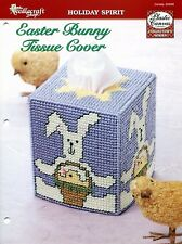 Easter Bunny Tissue Cover ~ Boutique Tissue Box Topper plastic canvas pattern