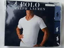 Ralph Lauren Polo 3 pack Blue Classic V-Neck T-shirts Tee NWT