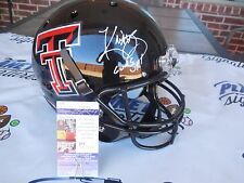 Kliff Kingsbury signed Texas Tech TTU Red Raiders full size helmet JSA COA