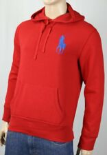 Polo Ralph Lauren Red Big Pony Hoodie Sweatshirt NWT $125