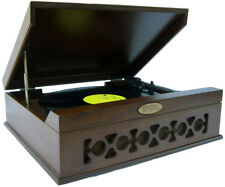 Pyle Home Audio PVNTT6UMT New Vintage Classic Phonograph Turntable Dark Maple