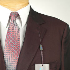 40R STEVE HARVEY Solid Burgundy SUIT SEPARATE  40 Regular Mens Suits - SS27