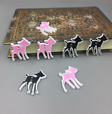 Mixed Deer wooden buttons sewing Scrapbooking decorations handicraft 29mm/1.1 in