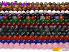"""10mm Wholesale Round Stone Beads For Jewellery Making Gemstone 15"""" Free Shipping"""