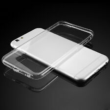 Ultra Thin Soft Case Transparent Cover With Anti-dust Plug for iPhone 6 6S Plus