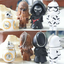 New Star Wars Figures Keyring Keychain BB-8 Darth Vader Stormtrooper Chewbacca