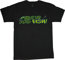 big and tall t-shirt shut up fish funny fishing tee shirt tall shirts for men