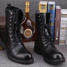 High Quality Winter Men's Retro Punk Leather England-style Combat Boots Shoes